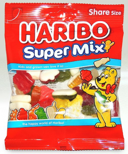 H54 HARIBO  GIANT SUPER MIX 140G BAGS